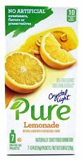 New listing 18 7-Packet Boxes Crystal Light Pure Lemonade On The Go Drink Mix