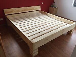Massivholzbett / Futonbett / Doppelbett / Holzbett (Paul ) ( 100%Handarbeit )