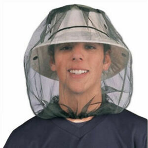 Mosquito Insect HEAD NET Wasp Bug Hat Face Protector Camping Fishing Hat Tools