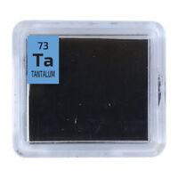Tantalum Metal 99.99% Ta Element Sample in Periodic Element Tile.Foil Wire Ingot