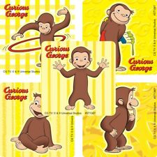 Curious George Stickers x 5 - Curious George Birthday Party Favours - Monkey