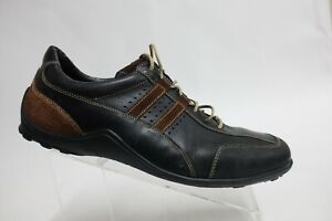 COLE HAAN Lace-Up Black Sz 14 M Men Leather Driving Sneakers