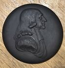Wedgwood Bentley Black Basalt Jasperware Cameo Plaque Medallion