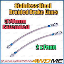 2x TOYOTA HILUX KUN26 N70 4WD EXTENDED FRONT Stainless Steel Braided Brake Lines