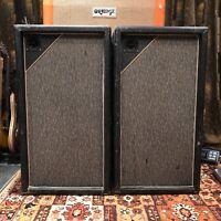 Vintage 1967 Marshall Pinstripe Pair 3x12 PA Guitar Cabinets 20w Celestion G12M