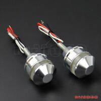 Motorcycle Silver HandleBar LED Turn Signal Light Lamp Grip Bar End Indicators
