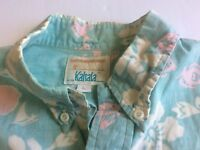 HRH Shirt Size Mens Large Mens Womens Kahala Hawaiian Color White Pink Agua EUC