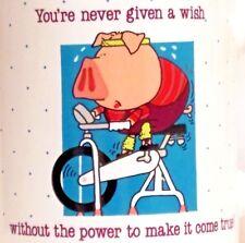 Mug Cup Exercise Workout Pig Spinning Stationary Bike Bicycle Wish Power Kersten