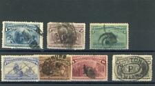 United States 1893 Columbians  Scott 230-34, 236-7  Canceled