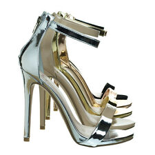 Kismet High Heel Open Toe Stilettos, Women's Fashion Ankle Strap Sandal