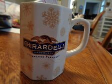 Ghirardelli Chocolate Coffee Mug Gold Snow Flakes 8 Sided Cup HTF