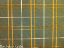 Bulk Buy 10Mtr. Green Check Curtain Upholstery Fabric Material SALE! FREE P&P!