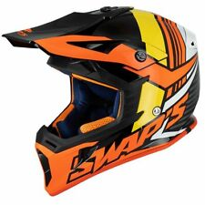 Casque motocross SWAP'S BLUR S818 Noir / Rouge / Orange