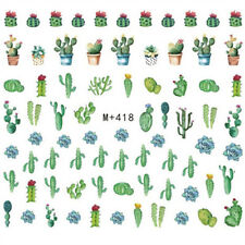 70 Green Cactus Nail Decals Water Nail Art Sticker for Nail Polish Manicure DIY