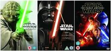 STAR WARS Complete 1-7 Collection Part 1 2 3 4 5 6 7 Original NEW UK DVD Regio2