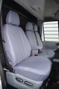 Grey Tailored 100% Waterproof Seat Covers Front 3 for Ford Transit Van MK7 MK6