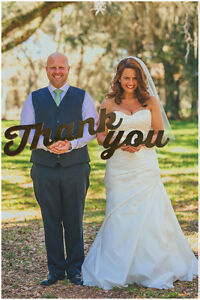 Thank You Wedding Prop for Wedding Thank You Cards, Choose Your Color
