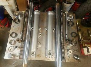 Harley 39mm fork legs + tubes + internals FXR Dyna Sportster 1999 down EPS23923