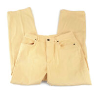 Talbots Womens Petite Pants Size 10 Crop Yellow Orange Stretchy Straight Leg  (