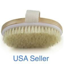 NEW Wholesome Beauty Dry Skin Body Brush Natural Bristles - Fight Cellulite, USA