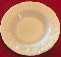 """Quadrifoglio Franco Giorgi #QUD7 9 3/8"""" White Rimmed Soup Bowls Set of 4 EUC"""