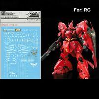 WaterSlide Decal Sticker RG25 For Bandai RG 1/144 MSN-04 Sazabi Gundam Model INS