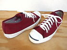 Vtg 1960's Converse Jack Purcell Shoes Sz 6 Maroon/Burgundy Made in USA