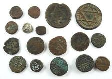 Lot of 17 Old Bronze, Copper or Silver Coins