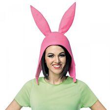 Louise Belcher Hat Pink Bunny Ears Bobs Burgers Costume Halloween Fancy Dress