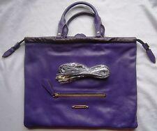 Burberry Bag Big Crush Tote Purple Leather Grain Handbag Shoulder Womens Purse