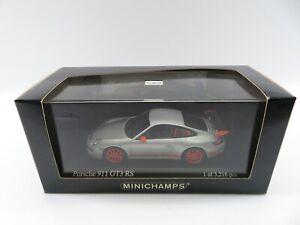 Minichamps 1:43 400066000 Porsche GT3 RS 2006 silver limitiert OVP #3637