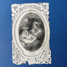 CANIVET Baldeveck La Ste Famille XIXè Image Pieuse HOLY CARD 19thC Santino