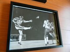 """1970s BC LIONS Large photo B&W by Bill Cunningham 15"""" x 12"""" ERIC GUTHRIE Punting"""