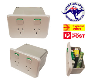 Iconic Power Point Stash Box Wall Safe Secret Diversion Can Powerpoint Outlet