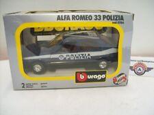 """Alfa Romeo 33 """"POLIZIA"""", 1983, blue, Bburago 1:24 (Made in Italy), OVP"""