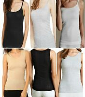 M&S Pointelle Thermal Lace Trim BRUSHED INSIDE Vest/Cami Top Lace trim