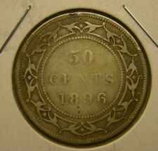 1896 NFLD NEWFOUNDLAND SILVER 50 CENTS Coin