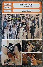 US Musical My Fair Lady Audrey Hepburn Rex Harrison French Film Trade Card