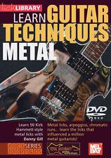 LEARN METAL GUITAR TECHNIQUES KIRK HAMMETT *NEW* DVD
