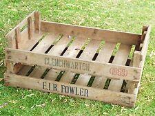 Two Potato Chitting Trays / Vintage Wooden Boxes / Bushel Box Old Storage Boxes
