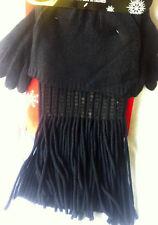 Set of Gloves Scarf & Hat Warm Winter Gift Black Sequin Christmas Joe Boxer New