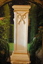 Säule Ablage Antik Barock Blumensäule aus Kunstharz Tisch 1029-108