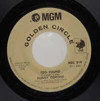 Rock 45 DONNY OSMOND Too Young on MGM