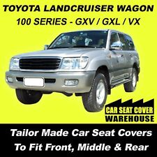 CAR SEAT COVERS FOR TOYOTA LANDCRUISER 100 SERIES  F+M+R 1998-2007