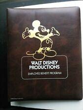 WALT DISNEY PRODUCTIONS EMPLOYEE BENEFIT PROGRAM FROM 1986 NEW HIRE BINDER