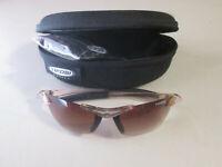 👓 ❗️Tifosi SEEK Sunglasses Clear Frame Amber lenses NICE👓 ❗️