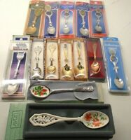 Collector Souvenir Spoons Lot of 14 New In Box Nice!