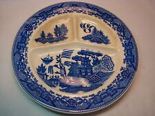 Vintage Blue Willow Divided Luncheon Plate