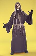 Skeleton Reaper Shroud robe boys kids halloween costume