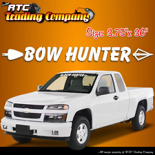 BOW HUNTER arrow windshield vinyl decal archery sticker truck car SUV window